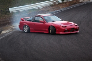 Red 180sx Drift