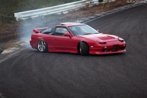 Red 180sx Drift